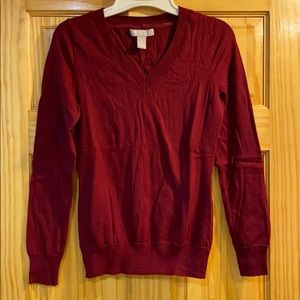 Maroon vneck from banana republic